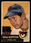 1953 Topps #46   Johnny Klippstein Front Thumbnail