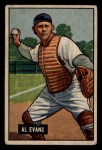 1951 Bowman #38   Al Evans Front Thumbnail