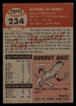 1953 Topps #234  Ray Murray  Back Thumbnail