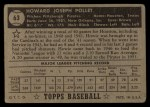 1952 Topps #63 BLK  Howie Pollet Back Thumbnail