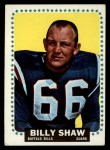 1964 Topps #38  Billy Shaw  Front Thumbnail
