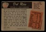 1955 Bowman #106   Del Rice Back Thumbnail