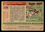 1955 Topps #130   Mayo Smith Back Thumbnail