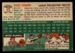 1954 Topps #45   Richie Ashburn Back Thumbnail