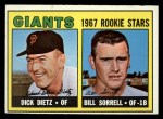 1967 Topps #341   Giants Rookie Stars  -  Dick Dietz / Bill Sorrell Front Thumbnail