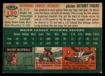 1954 Topps #190   Ray Herbert Back Thumbnail