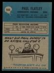 1964 Philadelphia #102  Paul Flatley   Back Thumbnail