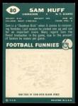 1960 Topps #80  Sam Huff  Back Thumbnail
