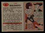 1957 Topps #4  Lou Baldacci  Back Thumbnail