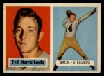 1957 Topps #113  Ted Marchibroda  Front Thumbnail