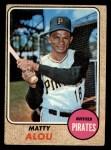 1968 Topps #270  Matty Alou  Front Thumbnail