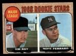 1968 Topps #539  Major League Rookies  -  Jim Ray / Mike Ferraro Front Thumbnail