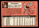 1969 Topps #285   Don Mincher Back Thumbnail