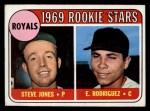 1969 Topps #49 COR  Steve Jones / Ellie Rodriguez Front Thumbnail
