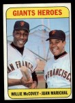 1969 Topps #572  Giants Heroes    -  Juan Marichal / Willie McCovey Front Thumbnail