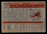 1957 Topps #399   Billy Consolo Back Thumbnail