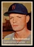 1957 Topps #334  Jerry Schoonmaker  Front Thumbnail