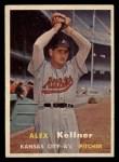 1957 Topps #280  Alex Kellner  Front Thumbnail