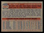 1957 Topps #397   Roy Smalley Back Thumbnail