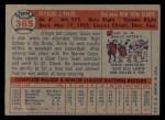 1957 Topps #365  Ossie Virgil  Back Thumbnail