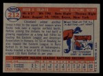 1957 Topps #212   Rocco Colavito Back Thumbnail