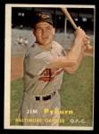 1957 Topps #276  Jim Pyburn  Front Thumbnail