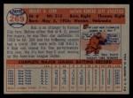 1957 Topps #269  Bob Cerv  Back Thumbnail