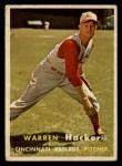 1957 Topps #370  Warren Hacker  Front Thumbnail