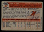 1957 Topps #37   Frank Torre Back Thumbnail
