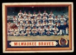 1957 Topps #114  Braves Team  Front Thumbnail