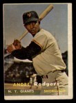 1957 Topps #377   Andre Rodgers Front Thumbnail