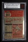 1953 Topps #252  Hank Foiles  Back Thumbnail