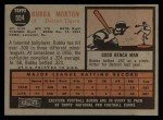 1962 Topps #554   Bubba Morton Back Thumbnail