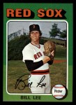1975 Topps Mini #128   Bill Lee Front Thumbnail