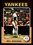 1975 Topps Mini #291   Bill Sudakis Front Thumbnail