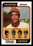 1974 Topps #31  Astros Leaders  -  Preston Gomez / Roger Craig / Grady Hatton / Hub Kittle / Bob Lillis Front Thumbnail