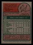 1975 Topps Mini #391   Don DeMola Back Thumbnail