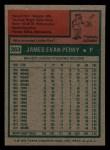 1975 Topps Mini #263   Jim Perry Back Thumbnail