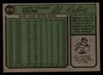 1974 Topps #215  Al Kaline  Back Thumbnail