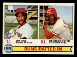 1979 Topps #3  RBI Leaders    -  Geroge Foster / Jim Rice Front Thumbnail