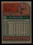 1975 Topps Mini #62  Fritz Peterson  Back Thumbnail