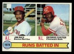 1979 Topps #3  1978 RBI Leaders    -  Geroge Foster / Jim Rice Front Thumbnail