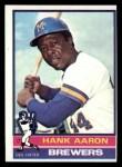 1976 Topps #550  Hank Aaron  Front Thumbnail