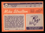 1970 Topps #252   Mike Stratton Back Thumbnail