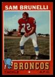 1971 Topps #185  Sam Brunelli  Front Thumbnail