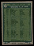 1977 Topps #113  Blue Jays Field Leaders  -  Roy Hartsfield / Don Leppert / Bob Miller / Harry Warner / Jackie Moore Back Thumbnail