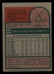 1975 Topps Mini #440   Andy Messersmith Back Thumbnail