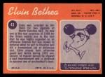 1970 Topps #43   Elvin Bethea Back Thumbnail