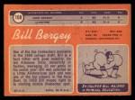 1970 Topps #168   Bill Bergey Back Thumbnail