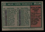 1975 Topps Mini #611   -  Bill Virdon Yankees Team Checklist Back Thumbnail